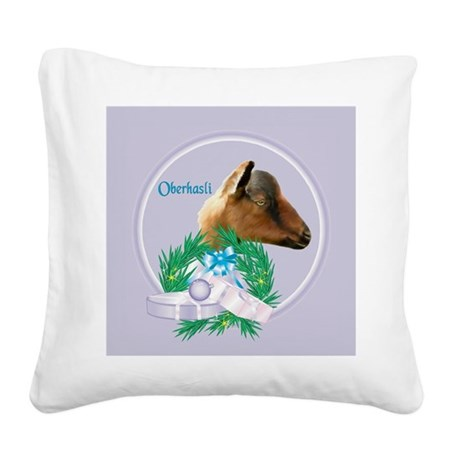 Goat-Nubian2.png Square Canvas Pillow