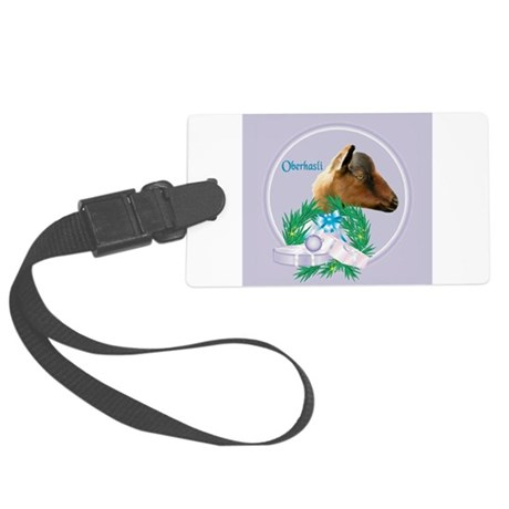 Goat-Nubian2.png Large Luggage Tag