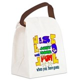 Life is Fun with Goats.png Canvas Lunch Bag