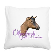 Goat-Oberhasli-Loveem.png Square Canvas Pillow