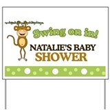 Natalies Baby Shower Sign Yard Sign