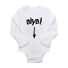 Cute Chinese Long Sleeve Infant Bodysuit