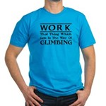 Work and Climbing Men's Fitted T-Shirt (dark)