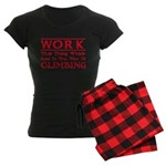 Work and Climbing Women's Dark Pajamas