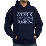 Work and Climbing Hoodie (dark)