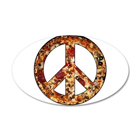 Slice of peace 20x12 Oval Wall Decal