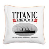 Titanic Ghost Ship (white) Square Canvas Pillow