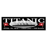 Titanic Ghost Ship (black) Bumper Bumper Sticker