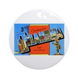 Oklahoma Greetings Ornament (Round)