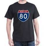 Interstate 80 Black T-Shirt
