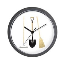 Gardening Tools Wall Clock