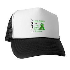 I Wear Lime 43 Lymphoma Trucker Hat