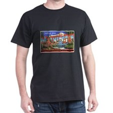 Washington State Greetings (Front) Black T-Shirt