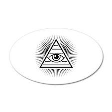 Eye 38.5 x 24.5 Oval Wall Peel