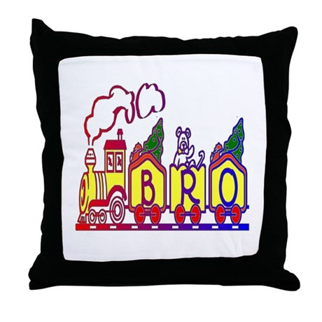 Bro Train Throw Pillow
