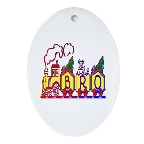 Bro Train Oval Ornament