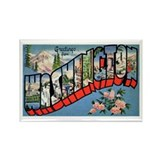 Washington State Greetings Rectangle Magnet (10 pa