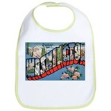 Washington State Greetings Bib