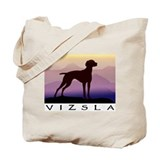vizsla dog w/purple mountains Tote Bag