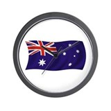 Waving Australian Flag Wall Clock