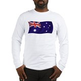Waving Australian Flag Long Sleeve T-Shirt