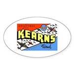 Camp Kearns Utah Oval Sticker