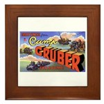 Camp Gruber Oklahoma Framed Tile