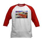Camp Gruber Oklahoma (Front) Kids Baseball Jersey
