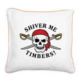 Shiver Me Timbers! Square Canvas Pillow