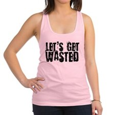 2-wasted.png Racerback Tank Top
