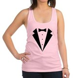 Minimalist Funny Tuxedo Racerback Tank Top