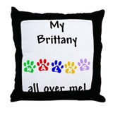 Brittany Walks Throw Pillow