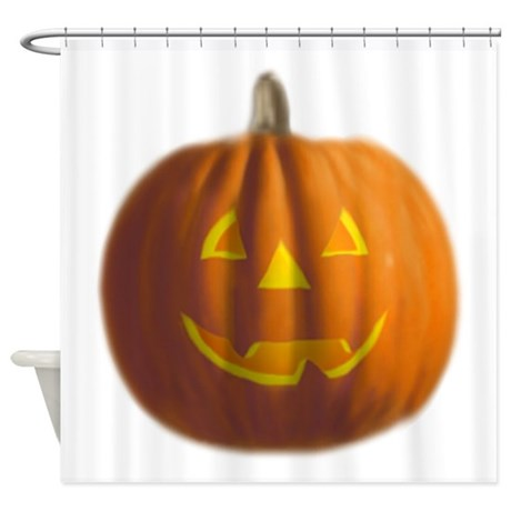 Halloween Pumpkin Shower Curtain By Basicpumpkin