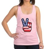 peace_hand.png Racerback Tank Top