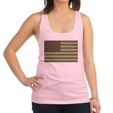 us_flag_camo.png Racerback Tank Top