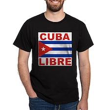 Cuba Libre Free Cuba Black T-Shirt