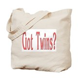 """Baby Got Twins Red"" Tote Bag"