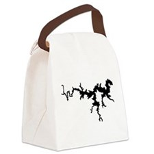 dragon only_black.png Canvas Lunch Bag