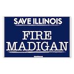 Fire Madigan Sticker (Rectangle 10 pk)
