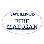 Fire Madigan Sticker (Oval 50 pk)