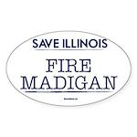 Fire Madigan Sticker (Oval 10 pk)