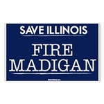 Fire Madigan Sticker (Rectangle)