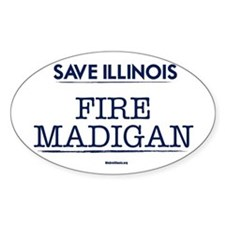 Fire Madigan Sticker (Oval)