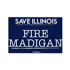 Fire Madigan Rectangle Magnet
