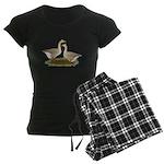 Tufted Buff Geese Women's Dark Pajamas