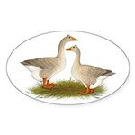 Tufted Buff Geese Sticker (Oval 10 pk)