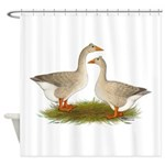Tufted Buff Geese Shower Curtain