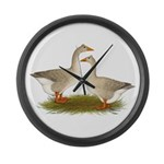 Tufted Buff Geese Large Wall Clock