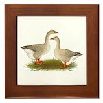 Tufted Buff Geese Framed Tile