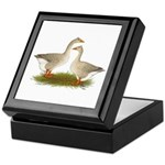 Tufted Buff Geese Keepsake Box